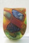 """Regent Parrot"", Blown glass, height 38cm, Available"