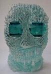 """HEADSPACE #6"" Laminated glass, cold-worked Height 19cm - Sold"