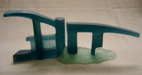 """LOCK GATES"", kiln-cast Height 17cm - Available"